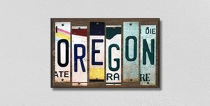 Oregon Wholesale Novelty License Plate Strips Wood Sign WS-187