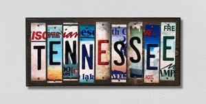 Tennessee Wholesale Novelty License Plate Strips Wood Sign