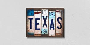 Texas Wholesale Novelty License Plate Strips Wood Sign