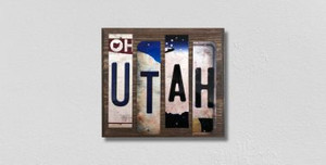 Utah Wholesale Novelty License Plate Strips Wood Sign