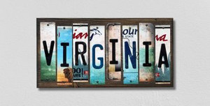 Virginia Wholesale Novelty License Plate Strips Wood Sign