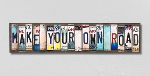 Make Your Own Road Wholesale Novelty License Plate Strips Wood Sign
