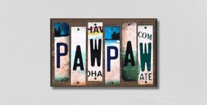 PawPaw Wholesale Novelty License Plate Strips Wood Sign