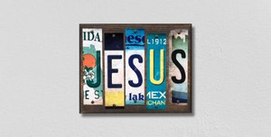 Jesus Wholesale Novelty License Plate Strips Wood Sign WS-214