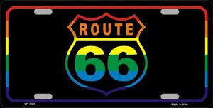 Route 66 Wholesale Metal Novelty License Plate