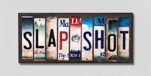 Slap Shot Wholesale Novelty License Plate Strips Wood Sign