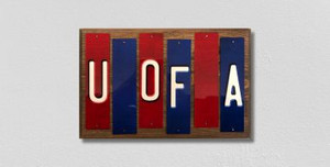 U of A Wholesale Novelty Colored Strips Wood Signs Wholesale Novelty License Plate Strips Wood Sign