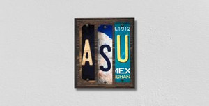 ASU Wholesale Novelty License Plate Strips Wood Sign