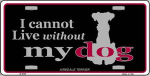 Airedale Terrier Wholesale Metal Novelty License Plate
