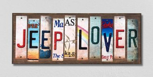 Jeep Lover Wholesale Novelty License Plate Strips Wood Sign WS-271
