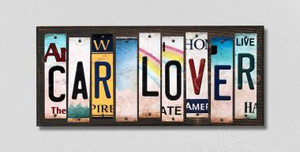 Car Lover Wholesale Novelty License Plate Strips Wood Sign