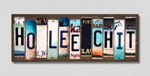 Ho Lee Chit Wholesale Novelty License Plate Strips Wood Sign