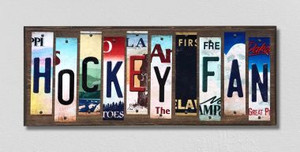 Hockey Fan Wholesale Novelty License Plate Strips Wood Sign