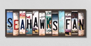 Seahawks Fan Wholesale Novelty License Plate Strips Wood Sign WS-330