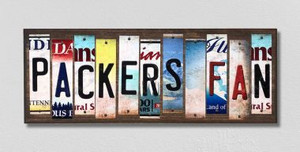 Packers Fan Wholesale Novelty License Plate Strips Wood Sign WS-332