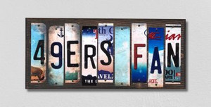 49ers Fan Wholesale Novelty License Plate Strips Wood Sign