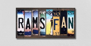 Rams Fan Wholesale Novelty License Plate Strips Wood Sign