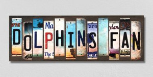 Dolphins Fan Wholesale Novelty License Plate Strips Wood Sign
