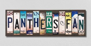 Panthers Fan Wholesale Novelty License Plate Strips Wood Sign