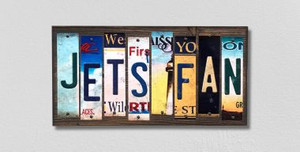 Jets Fan Wholesale Novelty License Plate Strips Wood Sign WS-346