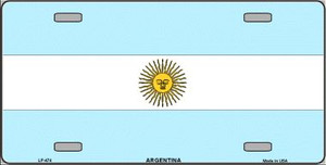 Argentina Flag Wholesale Metal Novelty License Plate LP-474