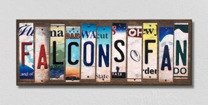 Falcons Fan Wholesale Novelty License Plate Strips Wood Sign