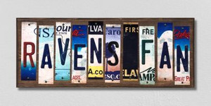 Ravens Fan Wholesale Novelty License Plate Strips Wood Sign WS-349