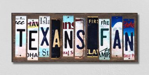 Texans Fan Wholesale Novelty License Plate Strips Wood Sign