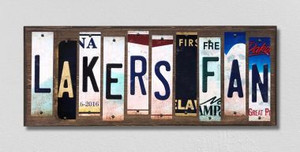 Lakers Fan Wholesale Novelty License Plate Strips Wood Sign