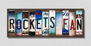Rockets Fan Wholesale Novelty License Plate Strips Wood Sign WS-362