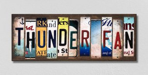 Thunder Fan Wholesale Novelty License Plate Strips Wood Sign