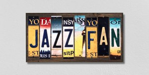 Jazz Fan Wholesale Novelty License Plate Strips Wood Sign WS-369