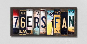 76ers Fan Wholesale Novelty License Plate Strips Wood Sign