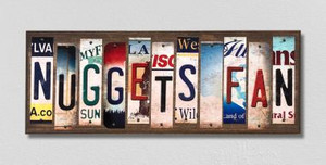 Nuggets Fan Wholesale Novelty License Plate Strips Wood Sign