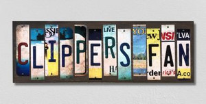 Clippers Fan Wholesale Novelty License Plate Strips Wood Sign