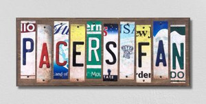 Pacers Fan Wholesale Novelty License Plate Strips Wood Sign