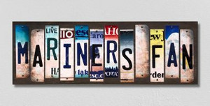 Mariners Fan Wholesale Novelty License Plate Strips Wood Sign