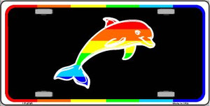 Dolphin Wholesale Metal Novelty License Plate LP-4745