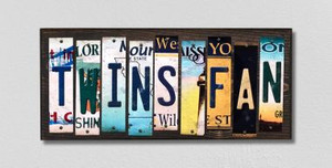 Twins Fan Wholesale Novelty License Plate Strips Wood Sign WS-407