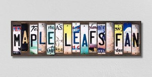 Maple Leafs Fan Wholesale Novelty License Plate Strips Wood Sign WS-421