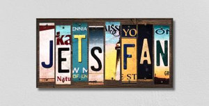 Jets Fan Wholesale Novelty License Plate Strips Wood Sign WS-426