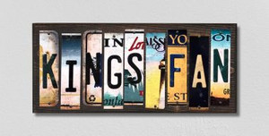 Kings Fan Wholesale Novelty License Plate Strips Wood Sign WS-433