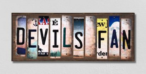 Devils Fan Wholesale Novelty License Plate Strips Wood Sign WS-435
