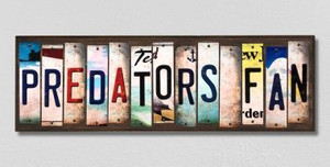 Predators Fan Wholesale Novelty License Plate Strips Wood Sign WS-436