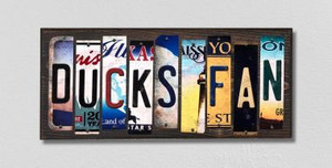 Ducks Fan Wholesale Novelty License Plate Strips Wood Sign WS-437