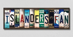 Islanders Fan Wholesale Novelty License Plate Strips Wood Sign WS-443