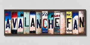 Avalanche Fan Wholesale Novelty License Plate Strips Wood Sign WS-446