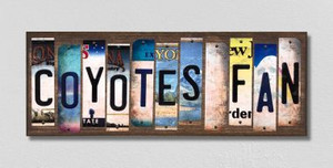 Coyotes Fan Wholesale Novelty License Plate Strips Wood Sign WS-448