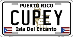 Cupey Puerto Rico Wholesale Metal Novelty License Plate LP-4750