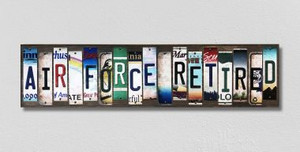 Air Force Retired Wholesale Novelty License Plate Strips Wood Sign